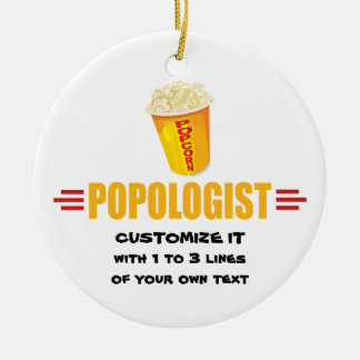 Personalized Funny Popcorn Ceramic Ornament
