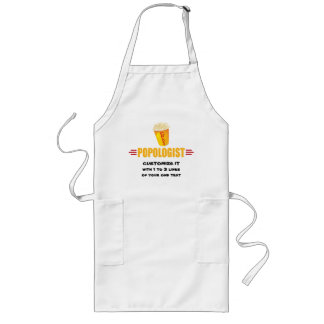 Personalized Funny Popcorn Long Apron
