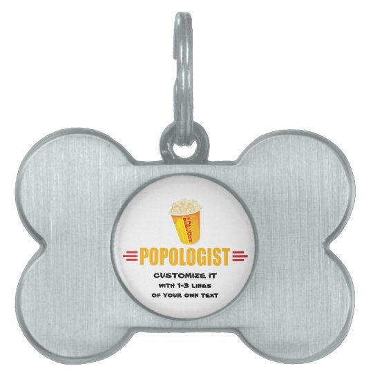 Personalized Funny Popcorn Pet Tag