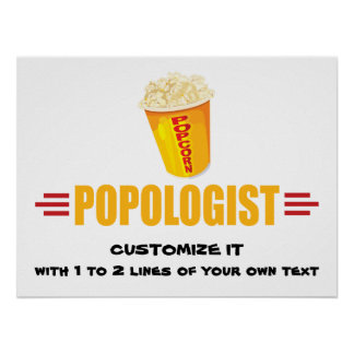 Personalized Funny Popcorn Poster