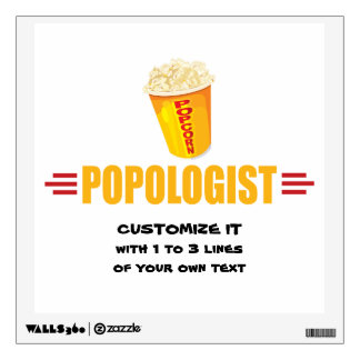 Personalized Funny Popcorn Wall Sticker