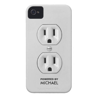 Personalized Funny Power Outlet Case-Mate iPhone 4 Case