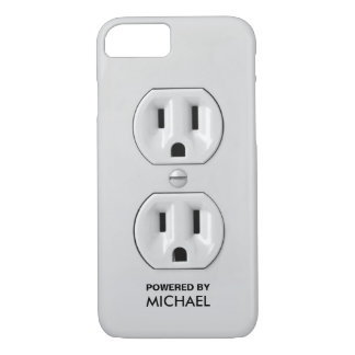 Personalized Funny Power Outlet iPhone 8/7 Case