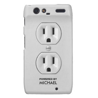 Personalized Funny Power Outlet Motorola Droid RAZR Case