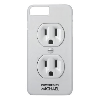 Personalized Funny Power Outlet (wall socket) iPhone 8 Plus/7 Plus Case