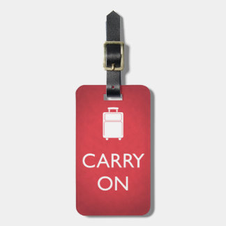 Personalized Funny Red Carry On Luggage Tag