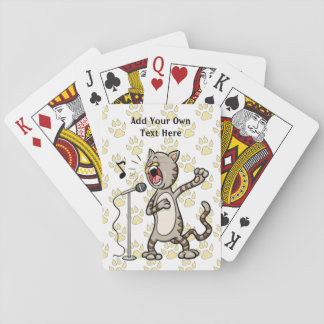 Personalized Funny Singing Cat Playing Cards