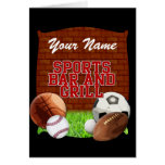 Personalized Funny Sports Bar and Grill Greeting Cards