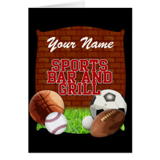 Personalized Funny Sports Bar and Grill Card