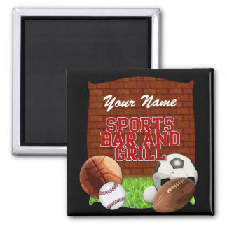 Personalized Funny Sports Bar and Grill Magnet