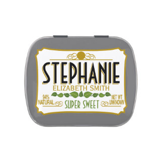 Personalized Funny White Elephant Gift Candy Tin