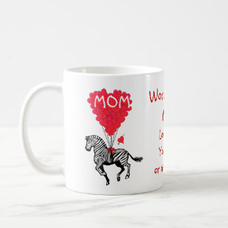 Personalized funny zebra mothers day classic white coffee mug