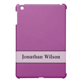 Personalized Fuschia Purple Color iPad Mini Case