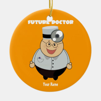 Personalized Future Doctor Double-Sided Ceramic Round Christmas Ornament
