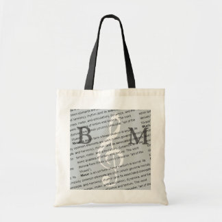 personalized G clef with definition of music Tote Bag