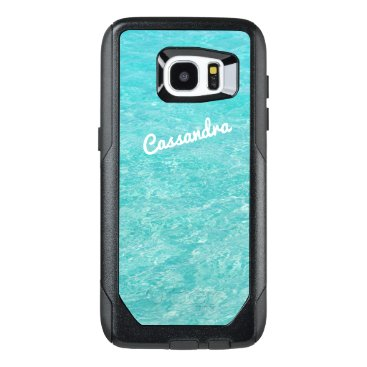 Ocean Themed Personalized Galaxy 7 Edge Case | Clear Blue Water