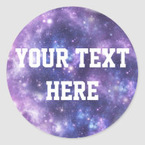 Personalized Galaxy Classic Round Sticker