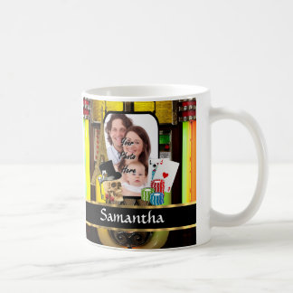 Personalized gambler coffee mug