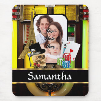 Personalized gambler mouse pad