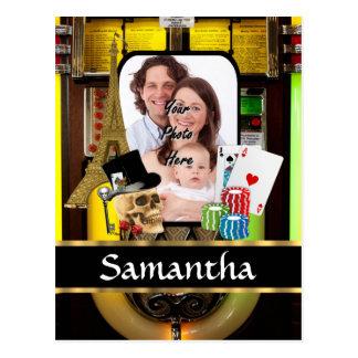 Personalized gambler postcard