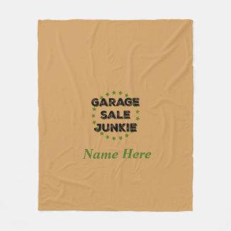 Personalized Garage Sale Junkie Fleece Blanket