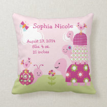 Personalized Garden Baby/Turtles Pillow Keepsake