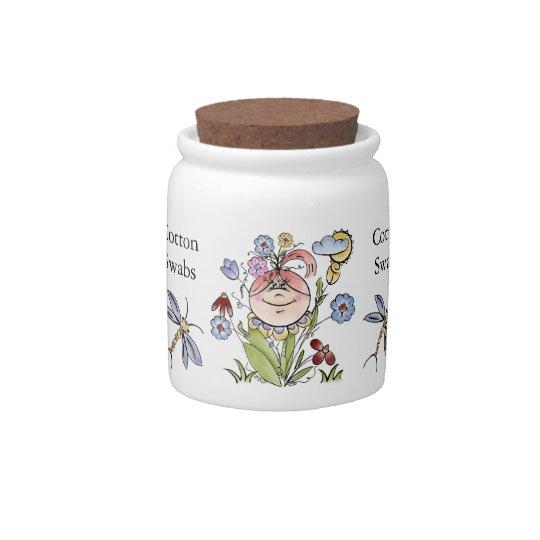 Personalized Garden Fairy Folk Art Candy Jars