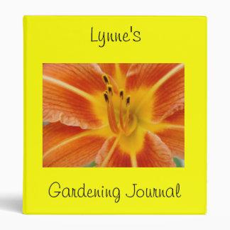Personalized Garden Journal 3 Ring Binders