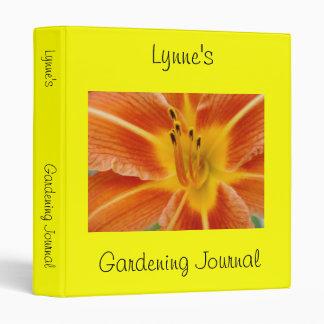 Personalized Garden Journal Binder