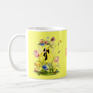 Personalized Garden Mug Lady Reaching4 Butterfly