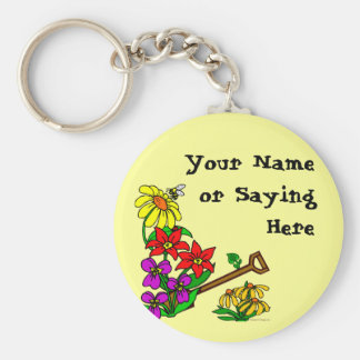 Personalized Gardener Saying Keychain
