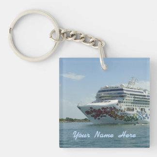 Personalized Gem Studded Bow Keychain