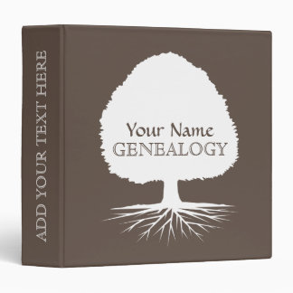 Personalized genealogy binder with family tree