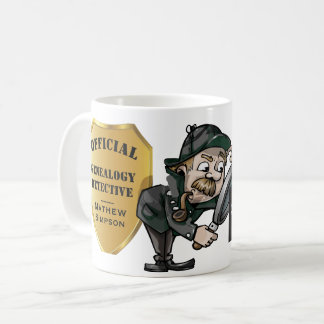 Personalized Genealogy Detective Coffee Mug