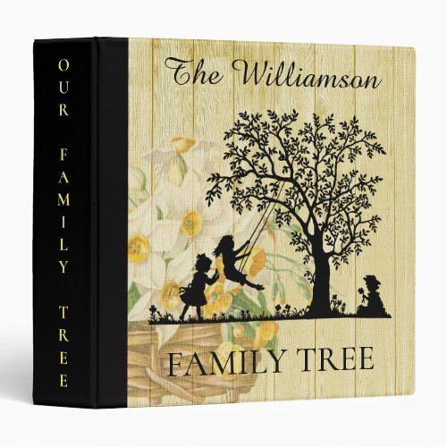 Personalized Genealogy Vintage Family Tree 3 Ring Binder