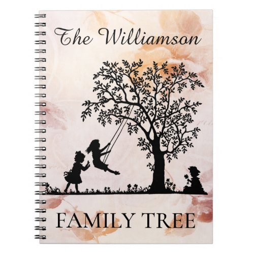 Personalized Genealogy Vintage Family Tree Notebook