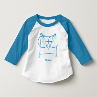 Personalized Geometric Owl Long Sleeve T-Shirt