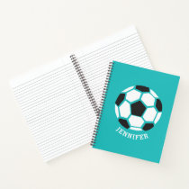 Personalized Geometric Soccer Ball Kids Sports Notebook