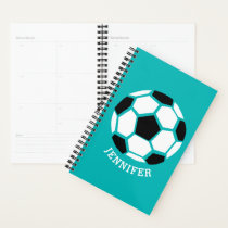 Personalized Geometric Soccer Ball Kids Sports Planner