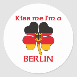 Personalized German Kiss Me I m Berlin Round Stickers