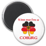 Personalized German Kiss Me I'm Coburg 2 Inch Round Magnet