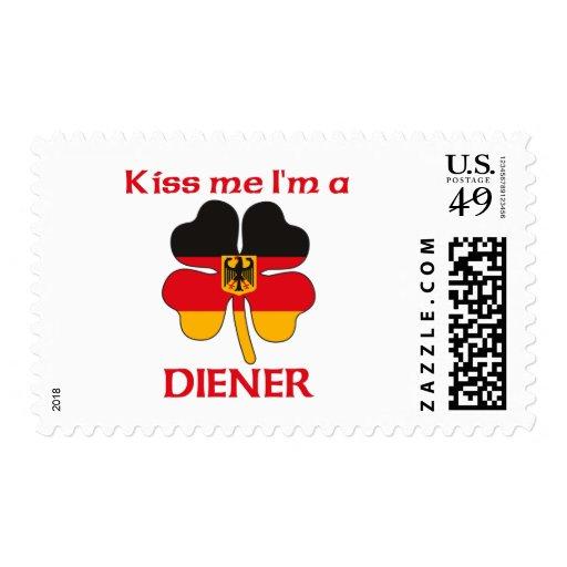 Personalized German Kiss Me I'm Diener Stamp
