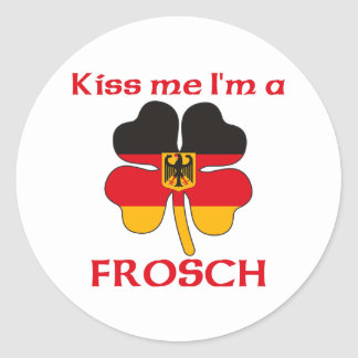 Personalized German Kiss Me I'm Frosch Classic Round Sticker