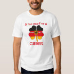 Personalized German Kiss Me I'm Gieser T Shirt