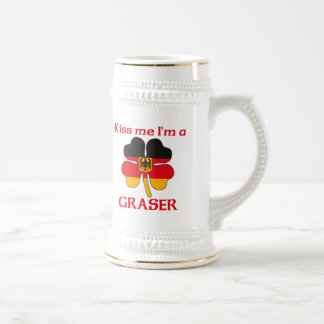 Personalized German Kiss Me I'm Graser 18 Oz Beer Stein