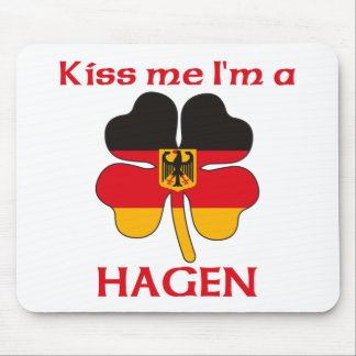 Personalized German Kiss Me I'm Hagen Mouse Pad