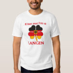 Personalized German Kiss Me I'm Langen Tee Shirt