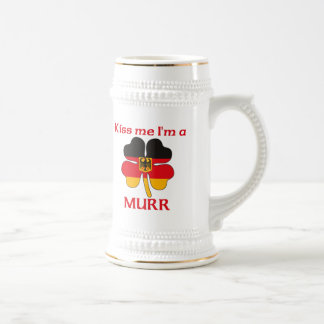 Personalized German Kiss Me I'm Murr 18 Oz Beer Stein