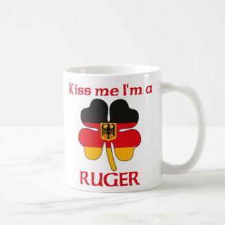 Personalized German Kiss Me I'm Ruger Coffee Mug