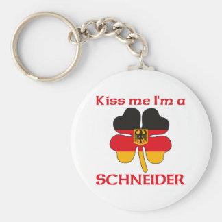 Personalized German Kiss Me I'm Schneider Keychain